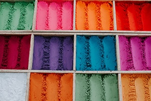 Photo d'une déclinaison de pigment de couleurs