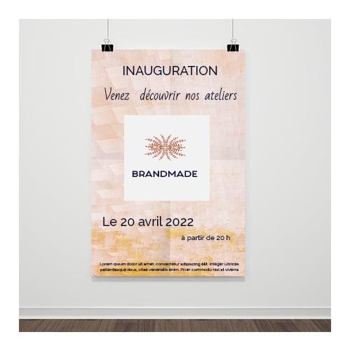 Créations graphiques de supports imprimés : une affiche pour une inauguration