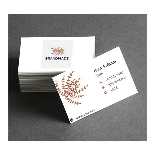 Création graphiques : comme support imprimé _  la carte de visite