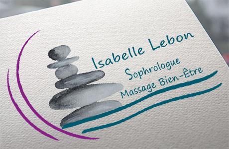 Mise en avant du logo d'Isabelle Lebon Sophrologue
