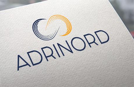 Mise en avant du logo ADRINORD sur un mockup