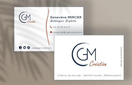 Présentation de la carte de visite pour CGM Création