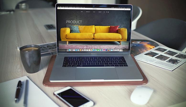 un site internet mettant en avant un produit