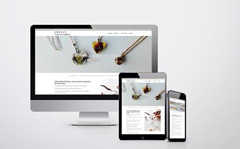 Photo montrant page d'accueil du site Adval Bijoux sur lequel CGM Création a réalisé une refonte du site et le référencement SEO