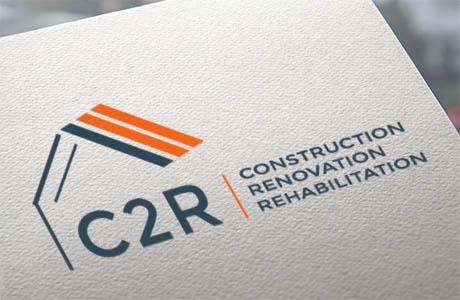 Réalisation par Geneviève Mercier du logo pour entreprise du second oeuvre du bâtiment